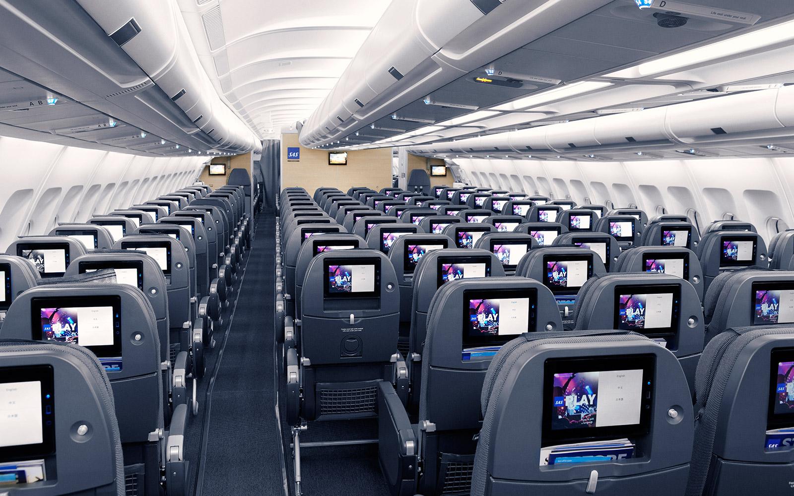 sas fly til new york
